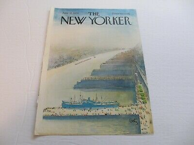 NEW YORKER magazine front cover only 8.5x11.5 Arthur Getz June 17 1974