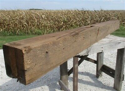 Reclaimed Barn Beam Wood Shelf, Architectural Salvage Fireplace Mantle a20,