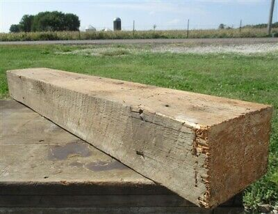 Reclaimed Barn Beam Wood Shelf, Architectural Salvage Fireplace Mantle a37,