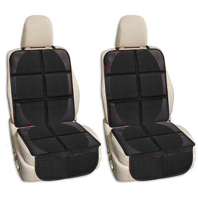 2PCS Car Seat Cover Protector Premium Waterproof Thick Padded w/ Storage Pocket