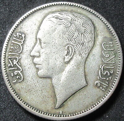 1938-I Iraq Silver Fifty Fils Coin