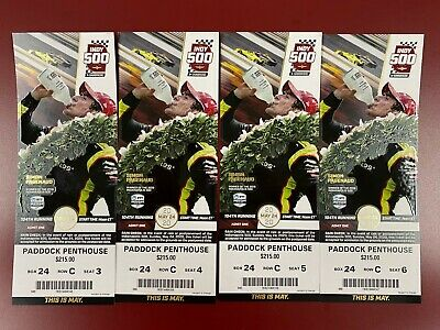 (4) 2020 Indy 500 Tickets Paddock Penthouse $1,400.00 OBO