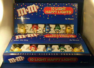 M&M's Candy 10 Light Happy Lights MINAMI H8610 / Christmas lights (Set of 2)