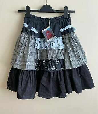 RRP £89 * JOTTUM * Girls Designer Layered Skirt * Blue * Age 10 * EU 140