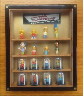 Rare Old Advertising Simpsons Cartoon Mini Figures And Display Case From 1990'S