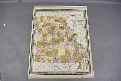 Missouri State Map Published by Augustus Mitchell 1847