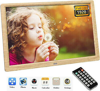 10.1 Inch Digital Photo Frame 1920x1080 HD IPS Display Photo/Music/Video Player