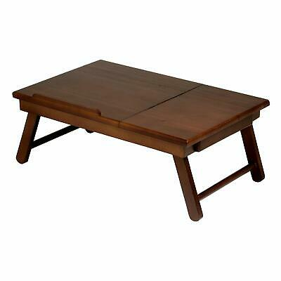 Winsome Wood Alden Lap Desk, Flip Top with Drawer, Foldable Legs