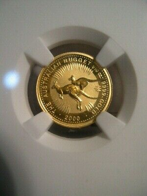 2000 Australia $15.00 Gold Kangaroo, NGC MS 69, 1/10 Oz, Unc., Nugget, Photo's