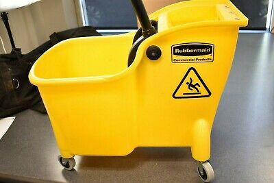 Rubbermaid Yellow Mop Bucket with Reverse Press Wringers