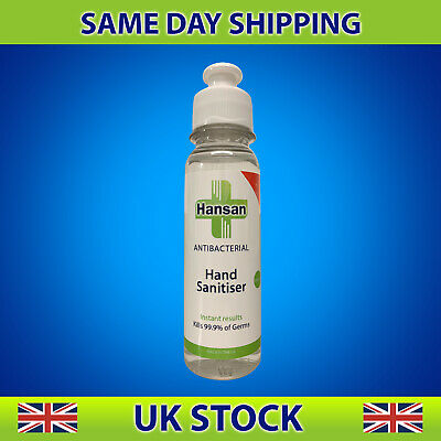 100ml HAND SANITISER ANTI BACTERIAL KILLS 99.99% GERMS 70% ALCOHOL SANITIZER