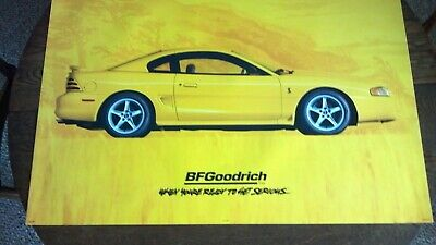 Bf Goodrich Sign Yellow Ford Svt Cobra R Mustang Original Poster