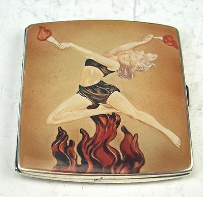 Silber Email Tabatiere Tabak Silver Tobacco Box London Cigarette Case Ca 1933