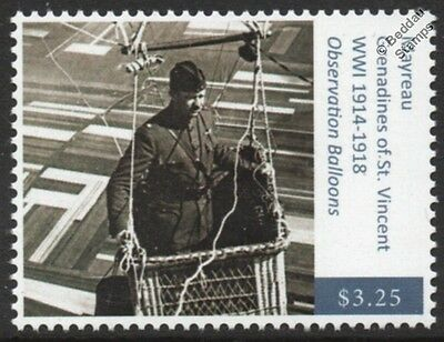 WWI 1918 USA Army Major & Observation Balloon Flight in France Aviation Stamp