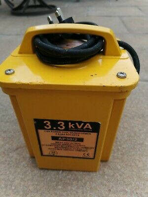 USED! 3.3KVA Site Transformer 110V Twin Outlet 16 AMP 3.3KVA  TESTED