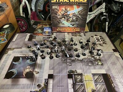 Star Wars Miniatures REVENGE OF THE SITH STARTER GAME 38 minis cards booklet map