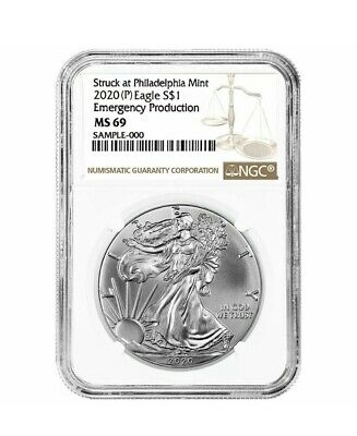 5 Pk 2020 (P) 1 oz Silver American Eagle NGC MS 69 Emergency Production