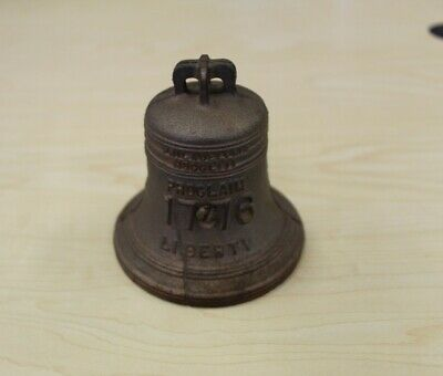 Vintage Liberty Bell Cast Iron Steel Bank 1776 Proclaim Liberty Great Condition