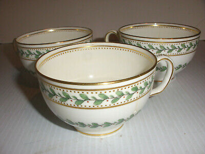lot of 3 Antique Minton`s fine china Tiffany co England Minton cup green leaf