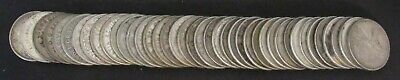 Roll of 40 Canada 25 Cents $10 Face all .800 Silver