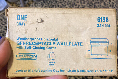 ESTATE SALE: Leviton New 6196 Receptacle GFI Horizontal