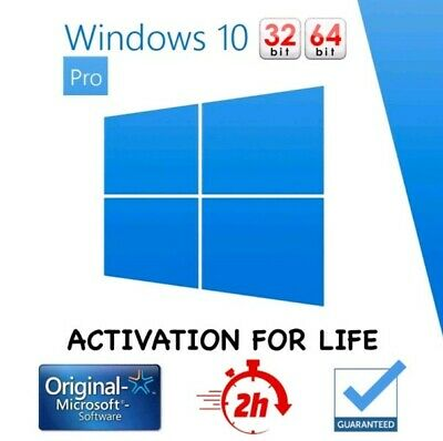 Windows 10 PROFESIONAL español 32/64 Licencia CLAVE original