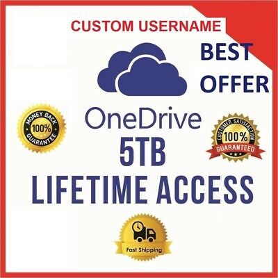 Onedrive 5TB  CUSTOM Account - Best Price - Fast Delivery 60m - *NEW*