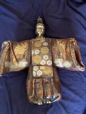Gorgeous JAPANESE MIXED  METAL Okina Noh Doll Theater Statue  13 Inches