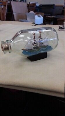 Small Vintage Ship In Glass 5.5'' Bottle