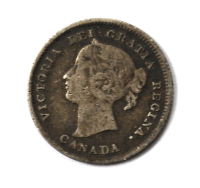 1897 5c Canada Five Cents Silver Coin KM# 2