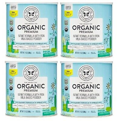 The Honest Co. Organic Premium Infant Formula w/Iron 21oz BB 6/2020 LOT OF FOUR!