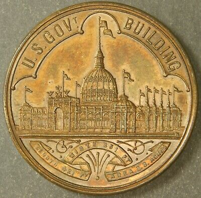 Hk 154 Au So-Called Dollar Columbian Exposition Official Medal – 1892