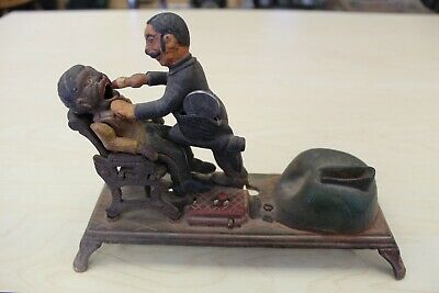 Vintage Cast Iron The Dentist Chair/Pulling Teeth Mechanical Bank
