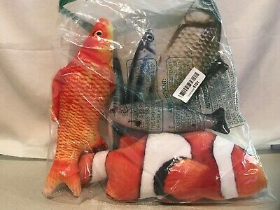 Catnip Toys 6 Pack - Simulation Fish Shape Realistic Fluffy Catnip Doll Interact