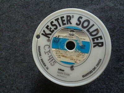 Kester solder/ solid core/ Dia. .109/ QQ-S-571/ 20 pound roll