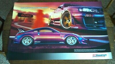 Original Bf Goodrich Poster Sign Nissan Skyline Gt-R34 Ultra Rare