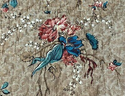 Early c 1830-40 Chintz QUILT pc Antique