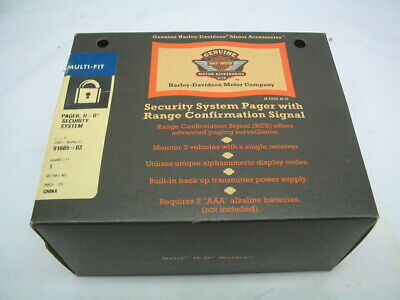 Security System Pager Kit 91665-03 Harley Touring Softail Dyna Sportster