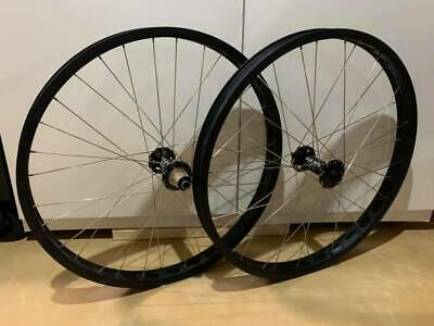 Vintage Style Bicycle Wheel Hub Shiners Genuine Leather Front And Rear Black
