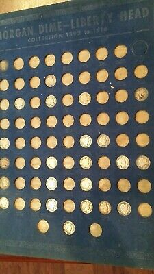 Lot Of 23 Barber Liberty Head Dimes- Free Shipping
