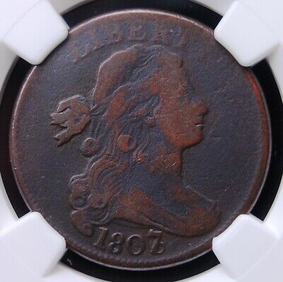 1807/6 Draped Bust Large Cent Ngc Vg Details Environmental Damage Looks Better