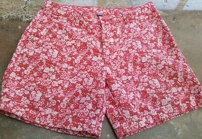 Girls Gap Age 16 Red/Pink Floral  Shorts Bnwt