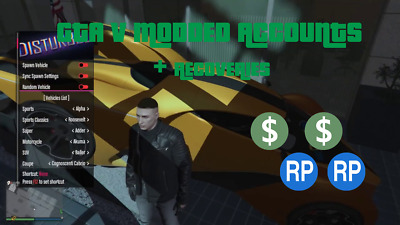Gta 5 Modded Account / Recovery Service. Money, Rank, All Stats *Undetected* Pc
