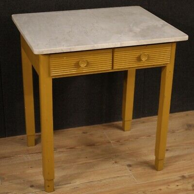 Table Italian Furniture Wooden Painting With Level IN Marble Antique Style 900