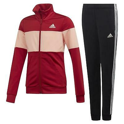 adidas ESSENTIALS GIRLS YOUTH SPORTS FULL TRACKSUIT RED COMFY CHILDREN'S SALE