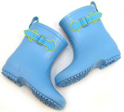 Kids Girls Boy Lovely Rain Boots Shoes Waterproof Blue US SIZE 13 Korean Fashion
