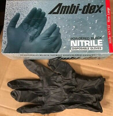 4 Mil Black Nitrile Gloves Large 900 Pcs 9 Of 100 Lightly Powdered. Heavy-Duty