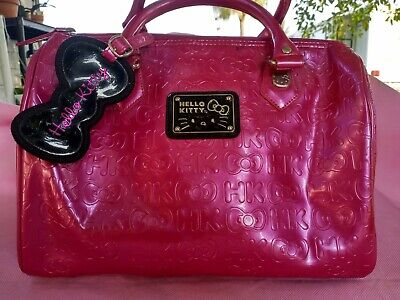 Hello Kitty Loungefly Fuchsia Patent Satchel Excellent Condition