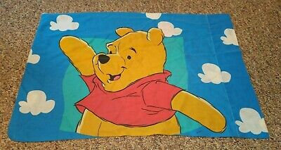Vintage Disney Winnie the Pooh & Piglet Standard Size Double Sided Pillowcase