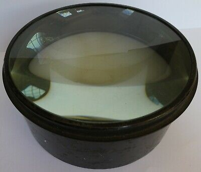 Antique Condensing Lens for Magic Lantern Projector - 5⅝ inch, 143mm diameter